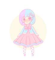 [CLOSED] Cotton Candy Chibi Adopt by Momoroo