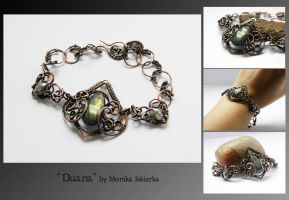 Duana- wire wrapped bracelet by mea00