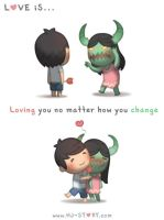 Love Is.. No Matter How you Change by hjstory