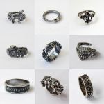 Silver plated brass rings 2 by BDSart