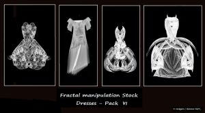Fractal Stock - Dress Pack VI by rockgem