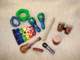 miniature musical instruments by KRSdeviations