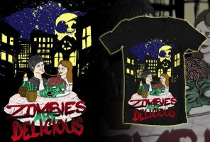 zombies are delicious shirt for contest by GLoeNn