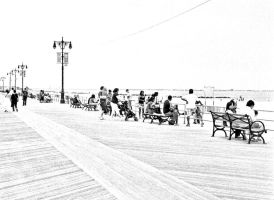 Coney Island Boardwalk 1 by lesley-oldaker