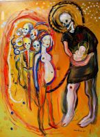 Skulls Life family spiritual by PowerfulPhoenix