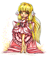 Chii from Chobits - Colored by JadeDragonne