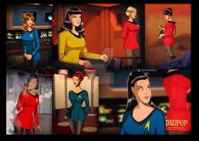 Des Taylor Star Trek chicks by DESPOP