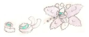 Blizbug, Colcoon, and  Snomoth by ToxicWyvern