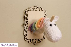 Pastel Rainbow Unicorn Taxidermy by karenscrochetcorner