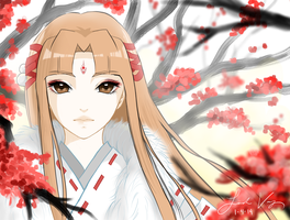 A fox spirit by aqualin09