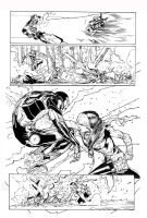Rogue Vs Iron Man By Sadoval inks by Curiel by lobocomics