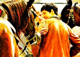 Colin Morgan and the horse by MagicalPictureMaker