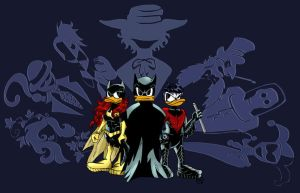 BatDuck and family by Narya91