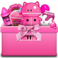 Box toys and desserts pink by xFrezShiia