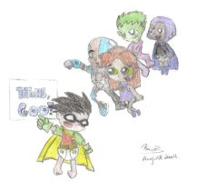 Baby Titans by KnuxZ by teentitans
