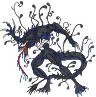 Lizard with venom symbiote by Marvelfans