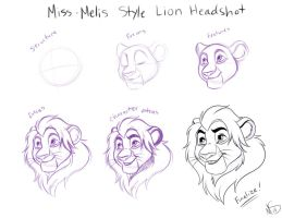 My Style Lion Headshot by Miss-Melis