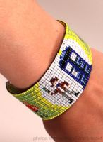 Green Doctor Who Cuff Details by PookNero