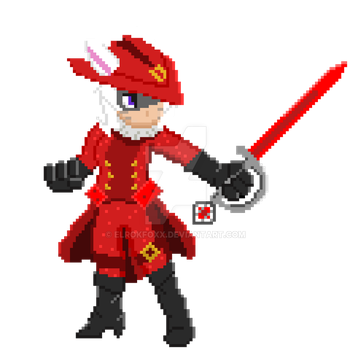 FF14 Red Mage Pixel by ElrokFoxx