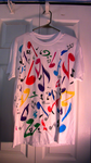 Multicolor music notes T-shirt by Orbcreation
