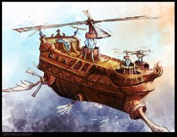 FF style Airship by WanderingInPixels