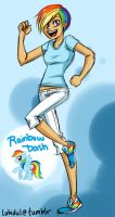MLP: Human Rainbow Dash by thelifeofabinder