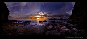 Capones Sunset pano by kjaex