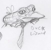 Animal Office - Duck Lizard by HJTHX1138