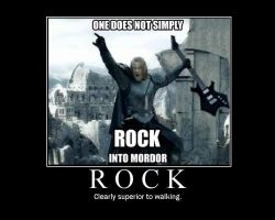 Rock Into Mordor by bthauronite