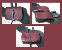 Red and Black Pouch by Demara