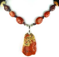 Goldfish and Lily Pad Necklace by SacredJourneyDesigns