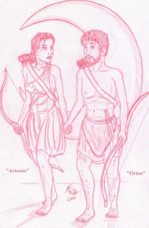 Artemis and Orion Sketch