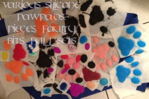Various Silicone Pawpads FOR SALE by AtmosFur