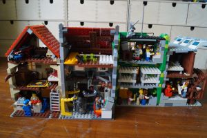 lego fallout city moc backview by kabhes
