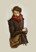 Joly in a red scarf by Yksittainen