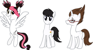 TFP humans as ponies vector by AngelPony99