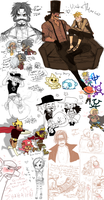 Op mess of doodles by Nire-chan
