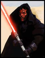Star wars -  Darth maul by jamga