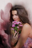 Cute Girl With Flower by sharewallpaper