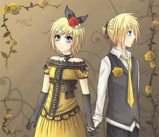 Story of Evil Rin and Len by Mekynopsis