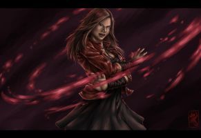 Fan art: Scarlet witch / Wanda Maximoff by Niabolla