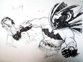 Batman sketch by elena-casagrande