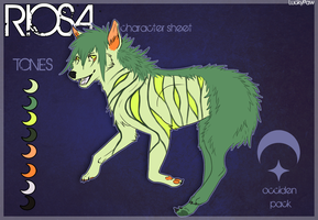 Riosa ref. sheet by LuckyPaw
