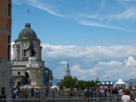 Beside the Chateau Frontenac by steveperro
