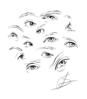 Eyes pencil practice by StyrbjornA