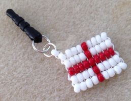 England flag phone charm by WhiteMagicPriestess