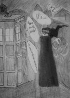 Death the Kid and the TARDIS by TheHemophageress