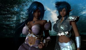 Daz - Milena and Seryna by Riku20xx
