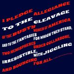 Shirt design- Pledge to the Cleavage by redneckgaijin