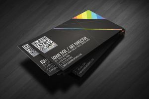 QR Quick Response business card design version 02 by Lemongraphic